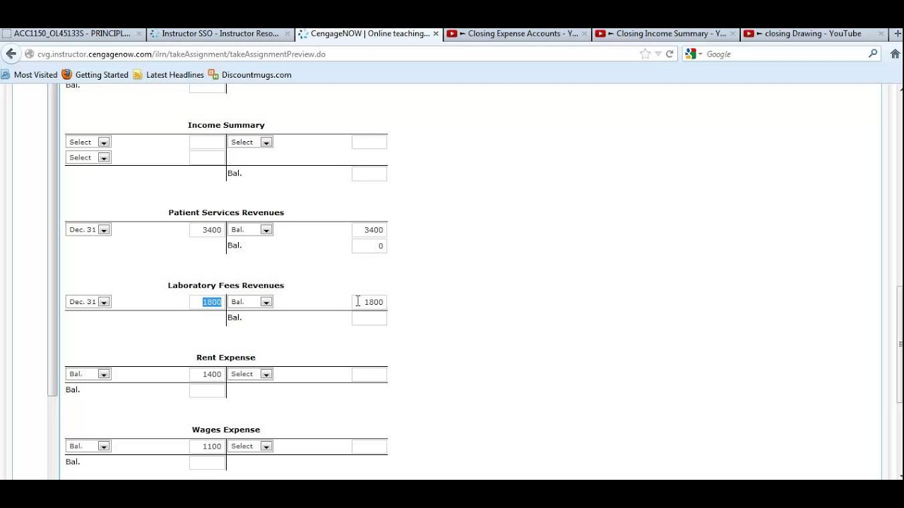Posting Closing Entries to T Accounts - YouTube