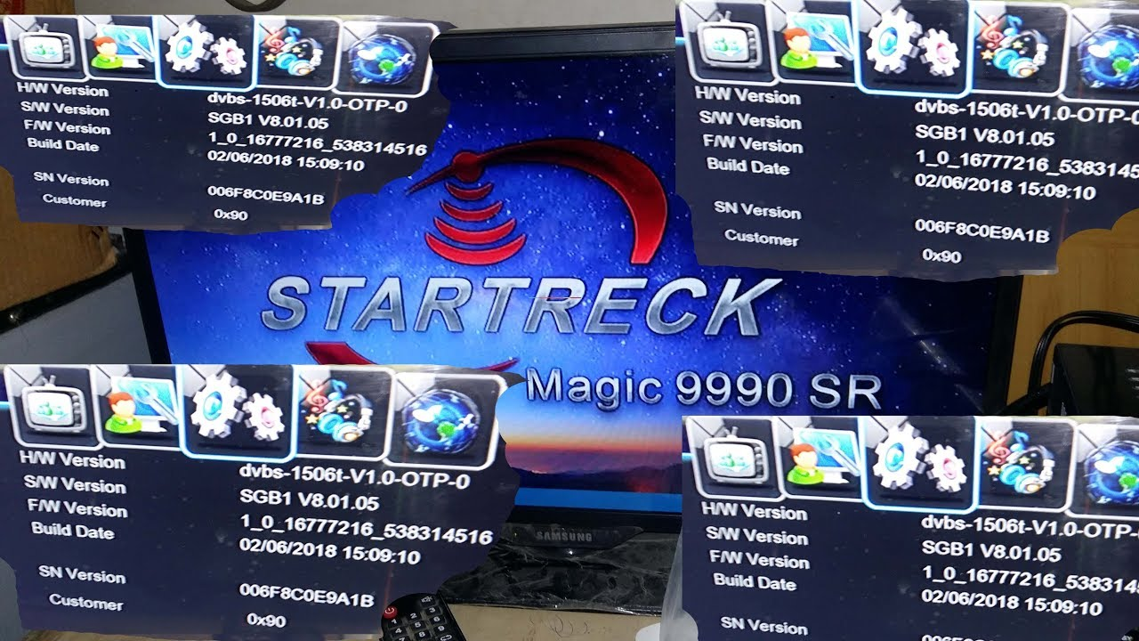 1506T-STARTRECK MAGIC 9990 SR LATEST POWER VU SOFTWARE UPDATE 2018
