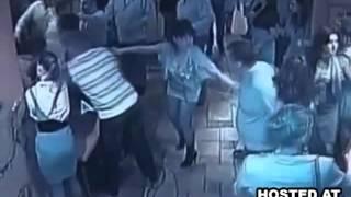 Repeat youtube video Men Beat Up Women in a Drunken Brawl at a Ukrainian Restaurant