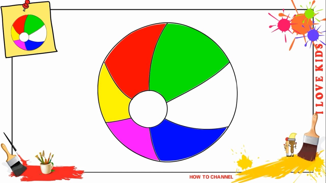 how to draw a beach ball