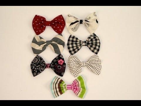 diy -sew fabric hair bows