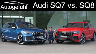 Audi SQ8 V8 vs SQ7 V8 comparison Review petrol performance SUVs 2021 - Autogefühl