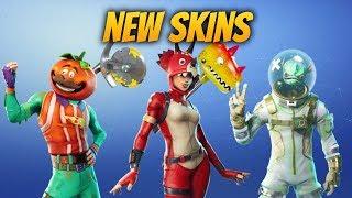 Nouveau Fortnite Skins! Tomatohead, Tricera Ops, Leviathan ! Nouveau Back Bling et Axes aussi!