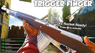 FASTEST TRIGGER FINGER in Call of Duty WW2! - V2 ROCKET 82 KILLSTREAK w/ HEROIC GEWEHR 43 in COD WW2