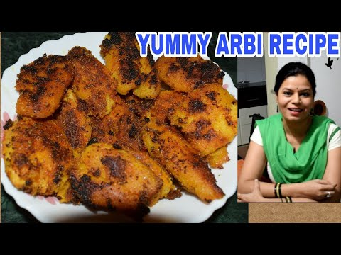"""Arbi""Masala RECIPE- – Must watch very TASTY and EASY! ARBI KI SABJI! Sukhi Arbi recipe!"