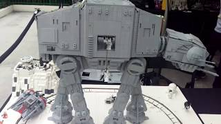 Lego Hoth Moc With Ucs At-at And Motorized Snowspeeder!