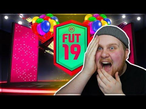OMG SÅ MÅNGA SJUKA SPELARE!! FUT BIRTHDAY* - FIFA 19 SVENSKA