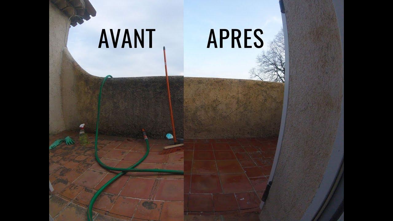 Nettoyage Dalle Piscine Javel nettoyage à l'hypochlorite de soude ou javel++ pour enlever la mousse sur  un balcon