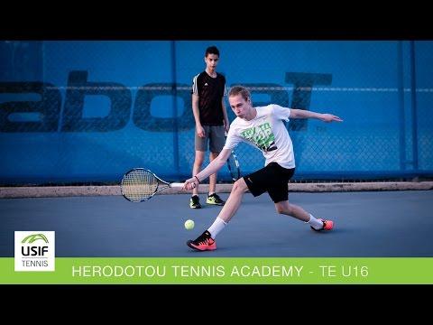 USIF spelar en Tennis Europe tävling under 16 år på Herodotou Tennis Academy