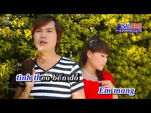 [Karaoke HD] Tình Theo Bến Đỗ - Chế Khanh ft Hoàng Mai Trang