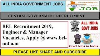 BEL Recruitment 2019 GOVERNMENT JOBS KARNATAKA
