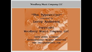 Leroy Anderson -The Typewriter (Animated)