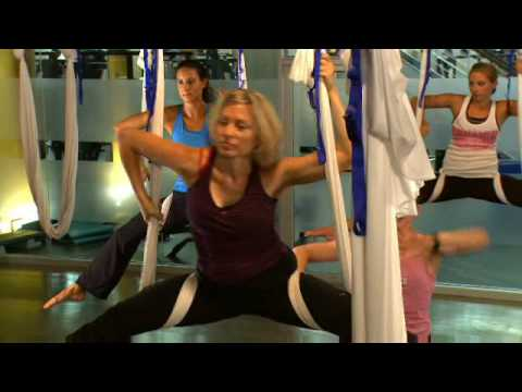 AntiGravity Yoga 'Wings' Class at Crunch Gym