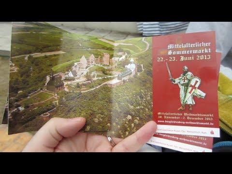 MEDIEVAL MARKET LICHTENBERG CASTLE - June 22, 2013 - usaaffamily vlog