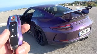 I Drive a Porsche GT3 w/Fi Exhaust! *TUNNEL REACTION*