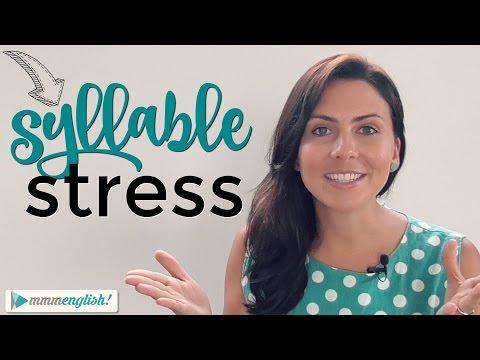 Pronounce English words correctly | Word Stress | Syllables | Pronunciation