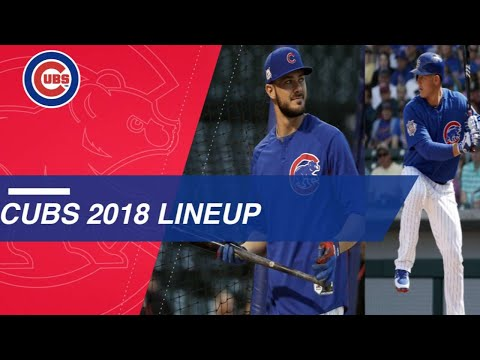 Take a look at the projected Cubs 2018 lineup