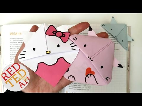 Easy Cat Bookmark (Hello Kitty, Kawaii Kitten, Kitten, Paper Crafts) #ReadAlong