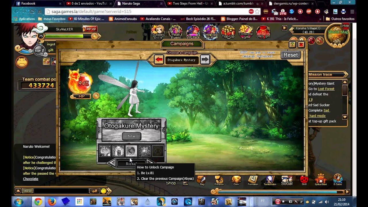 Naruto Saga game Browser   YouTube Naruto Saga game Browser