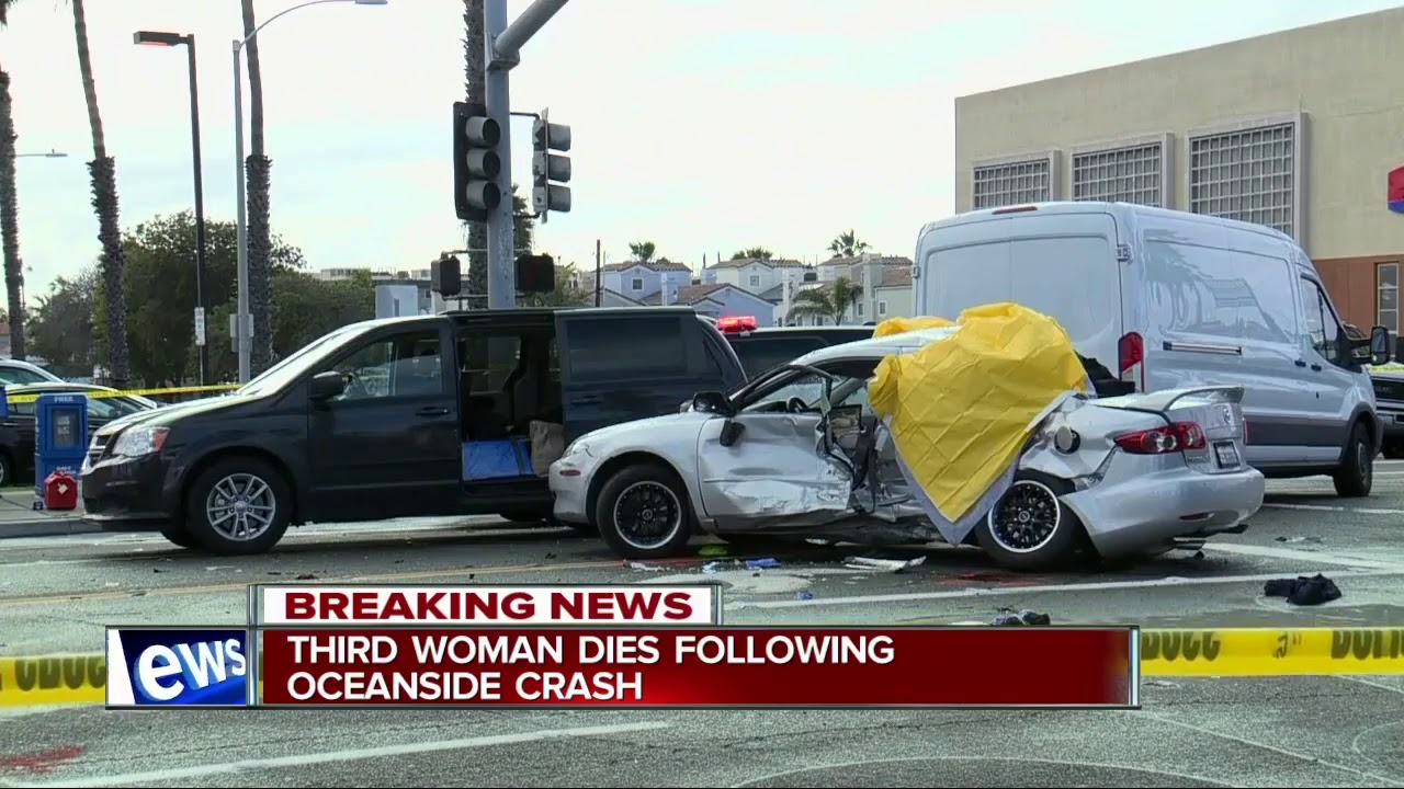 Third woman dies following Oceanside car crash
