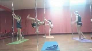 Дети.  Урок  в   Pole-dance  студии   Дарьи  Беловой