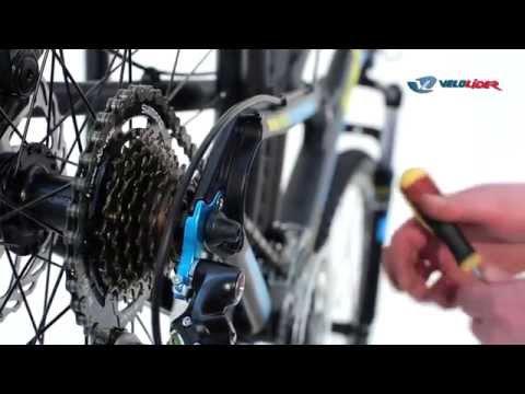 Настройка дискового тормоза, переднего и заднего переключателя велосипеда