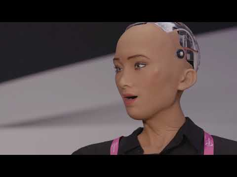 Sophia the robot on the future of AI in financial services