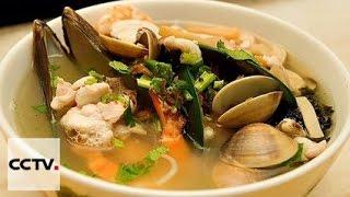 Китайская кухня: Суп с клёцками и морепродуктами