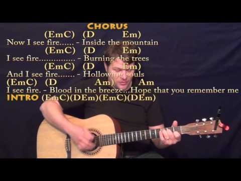 I See Fire (ED SHEERAN) Strum Guitar Cover Lesson in Em with Chords/Lyrics