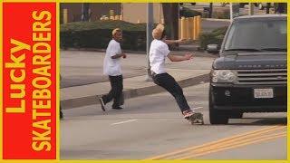 Lucky Skateboarders Caught On Camera || October 2018