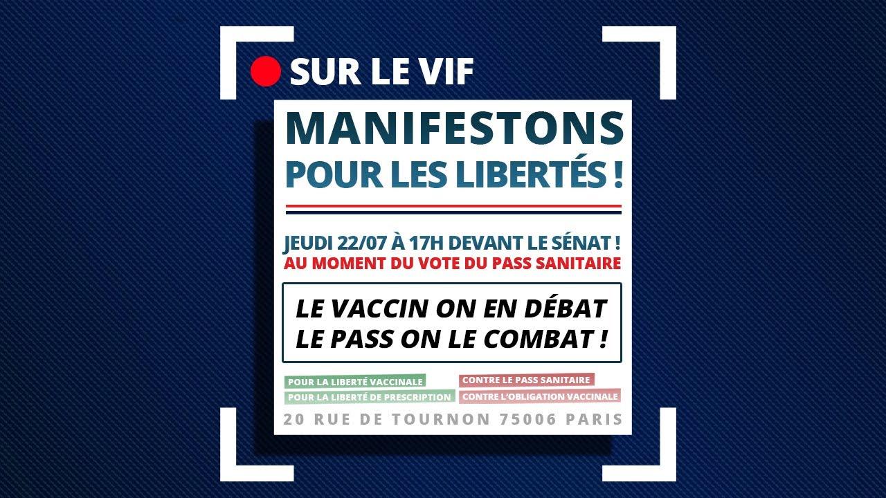 Download #PassSanitaire : Suite aux débats du 21 juillet, manifestons le 22 devant le Sénat à 17h !