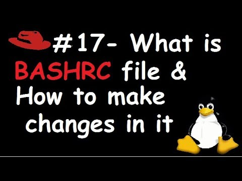 Make changes in bashrc file
