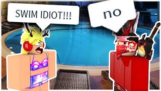 TROLLING a ROBLOX Swim Team