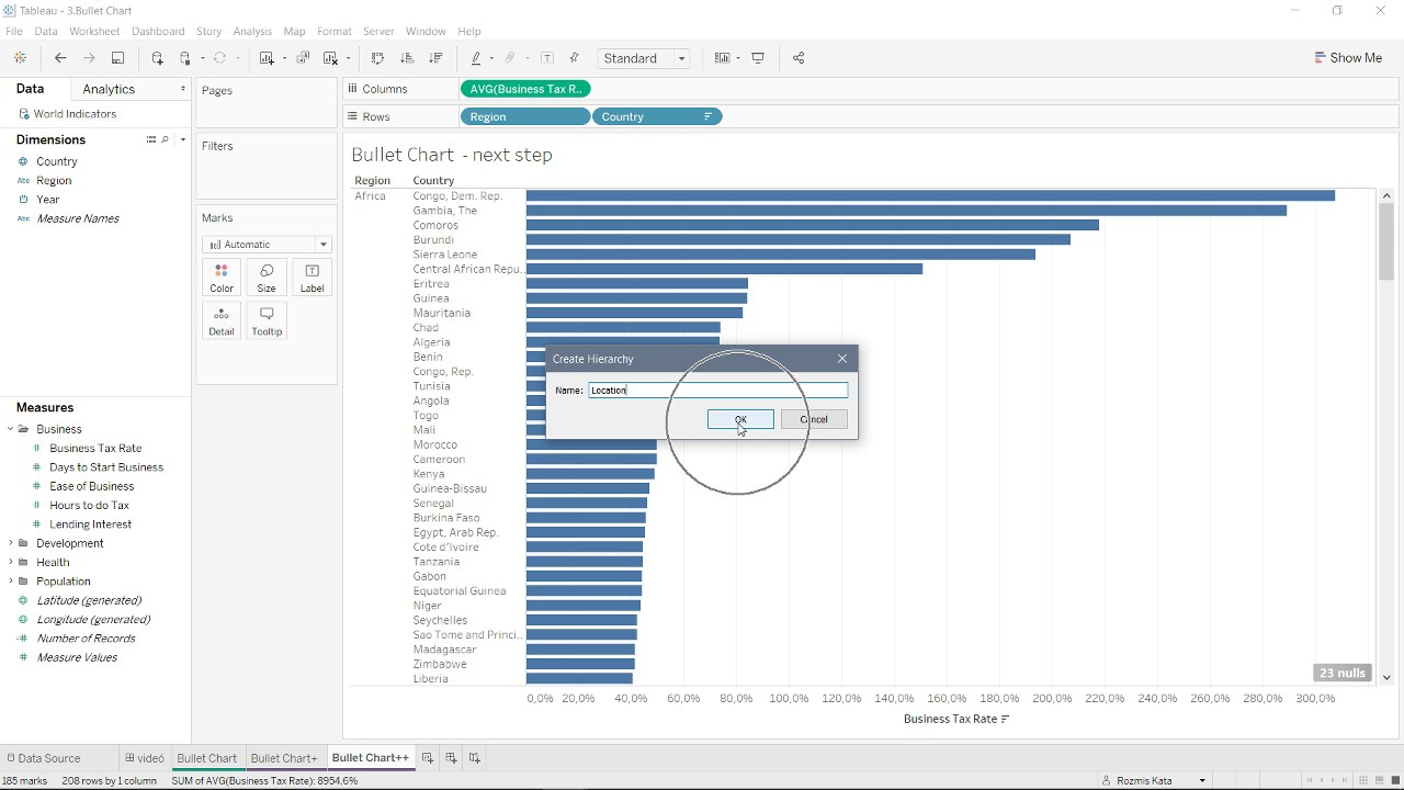 How to create bullet chart in tableau youtube how to create bullet chart in tableau nvjuhfo Choice Image