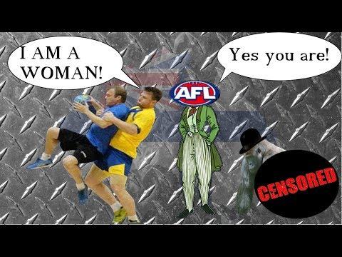 100KG Transgender Man to play Football in Women's AFL (AFLW) - Hannah Mouncey - Peak Regressive