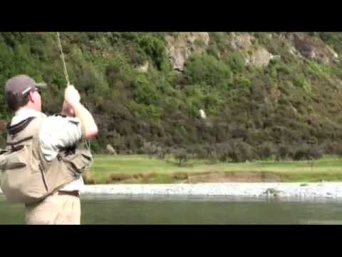 Rainbow Trout With Chris Dore On The Caples River New Zealan