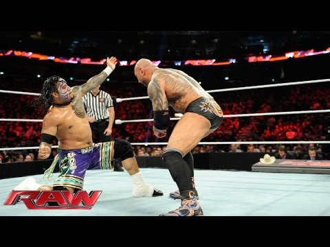 The Usos vs. Batista & Randy Orton - WWE Tag Team Championship Match: Raw, April 7, 2014