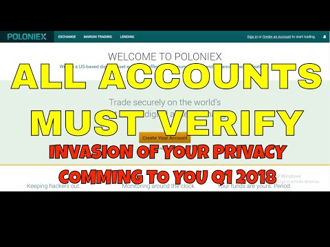 Poloniex Altcoin Exchange To Require All Account Holders To Verify | Is Bittrex Next?