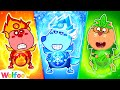 Wolfoo Dress Up Fire, Water, Air, and Earth Costumes - Kids Stories | Wolfoo Channel Kids Cartoon