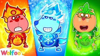 Download lagu Wolfoo Dress Up Fire, Water, Air, and Earth Costumes - Kids Stories | Wolfoo Channel Kids Cartoon