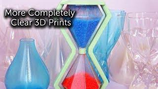 More Transparent 3D Print Tests
