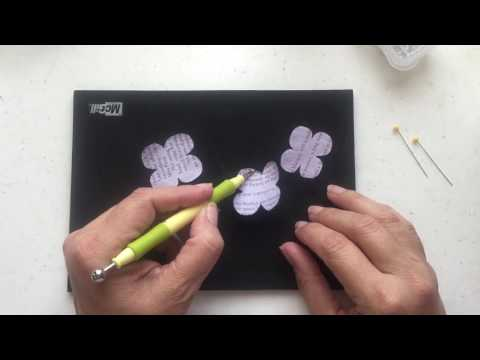 How to Make Hydrangeas from Book Pages using Cricut