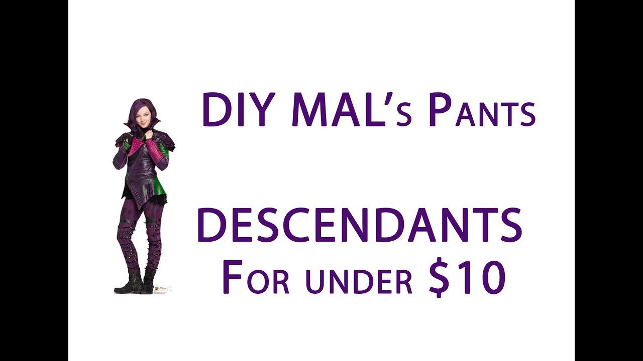 Diy mals pants from descendants for 10 tutorial costume youtube diy mals pants from descendants for 10 tutorial costume solutioingenieria Gallery