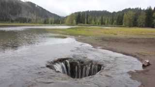 Adventure Oregon - Lost Lake draining into a giant hole thumbnail