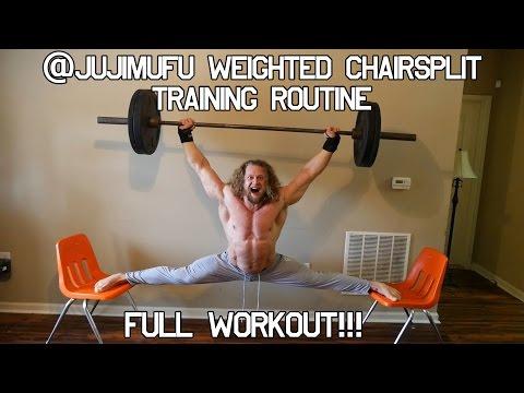 Jujimufu Full chair split workout routine