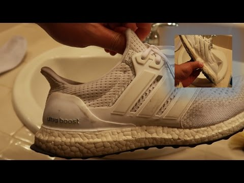 8f4e6c365d579 Restoring Triple white Ultra boosts with CHEAP cleaner - YouTube