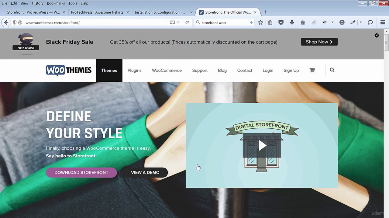 Install The Storefront Ecommerce Theme And Woocommerce Youtube