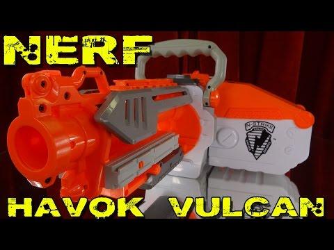 """NERF N-STRIKE HAVOK FIRE VULCAN EBF-25"""" -Vorstellung / Review"""