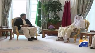 PM Imran meets Qatari Emir Sheikh Tamim bin Hamad Al Thani in Doha