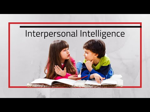 Interpersonal Intelligence Social Learners